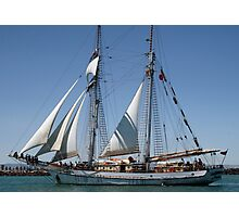 The One & All Brigantine Tall Ship - Youth Development Sail Training Photographic Print