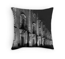 Catania, University Building at Night. Sicily, Italy Throw Pillow