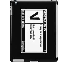 HARDCORE VEGETARIAN iPad Case/Skin