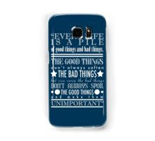 Doctor Who Quote Poster Samsung Galaxy Case/Skin