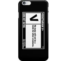 ETHICAL VEGETARIAN iPhone Case/Skin