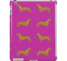 Sausage Dogs - hot pink iPad Case/Skin