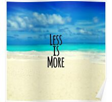"""""""Less is More."""" Typography Abstract Beach Scene Poster"""