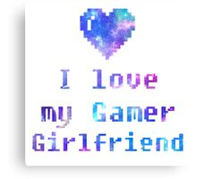 Gamer Girlfriend Canvas Print