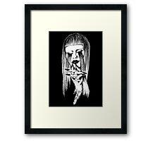 Tøp girl Framed Print