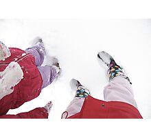 Snowy Feet Photographic Print