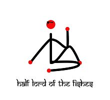 Stick figure-Half lord of the fishes yoga pose Sanskrit by Mindful-Designs