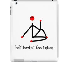 Stick figure-Half lord of the fishes yoga pose Sanskrit iPad Case/Skin