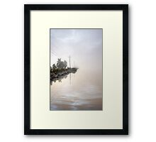 Lines to the fog Framed Print