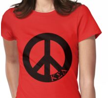Kappa Sigma Delta Peace Womens Fitted T-Shirt