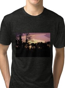 Campsite Sunset  Tri-blend T-Shirt
