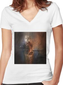 No Title 127 Women's Fitted V-Neck T-Shirt