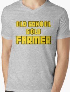 Old school gold farmer Mens V-Neck T-Shirt