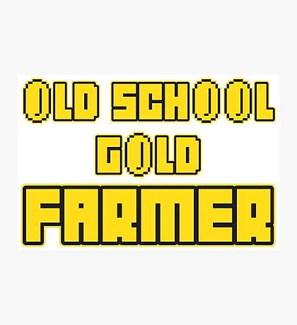 Old school gold farmer Photographic Print