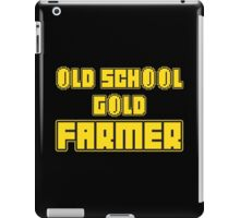 Old school gold farmer iPad Case/Skin