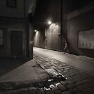 Alley-way, Night, Ballarat by lawrencew