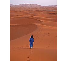 Sunrise in Erg Chebbi on edge of the Sahara Photographic Print