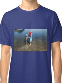 Best Fun Ever - Child Playing In Water Classic T-Shirt