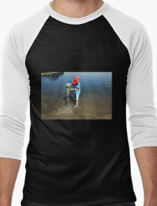 Best Fun Ever - Child Playing In Water Men's Baseball ¾ T-Shirt