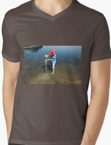 Best Fun Ever - Child Playing In Water Mens V-Neck T-Shirt