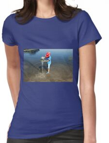 Best Fun Ever - Child Playing In Water Womens Fitted T-Shirt