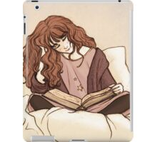 Reading before bed iPad Case/Skin