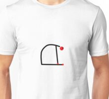 Stick figure of camel yoga pose. Unisex T-Shirt