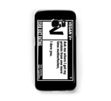 VEGAN, MOTHERFUCKER. Samsung Galaxy Case/Skin