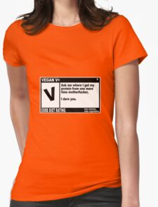VEGAN, MOTHERFUCKER. Womens Fitted T-Shirt