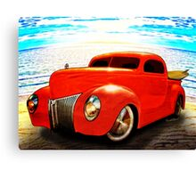 Surfin Forty Ford Pickup Canvas Print