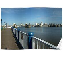 Thames Barrier: London UK Poster