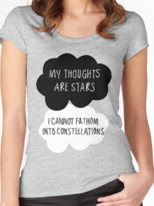 My Thoughts are Stars Women's Fitted Scoop T-Shirt