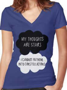 My Thoughts are Stars Women's Fitted V-Neck T-Shirt