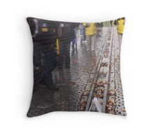 Reflections in the Wall Throw Pillow