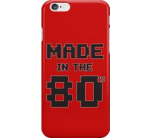 Made in the 80s iPhone Case/Skin