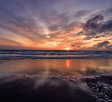 Sunset Sand - North Sea- North Holland by Hetty Mellink