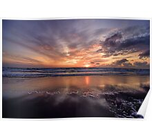 Sunset Sand - North Sea- North Holland Poster
