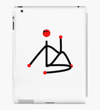Stick figure of half lord of the fishes yoga pose. iPad Case/Skin
