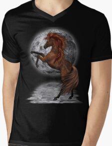 Moon Shadow .. a wild horse Mens V-Neck T-Shirt