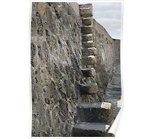 Stone steps on The Cobb, Lyme Regis Poster