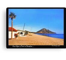 Once Upon a Time in Paradise...  Canvas Print
