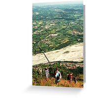 Descent Greeting Card