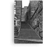Drawing of Edinburgh street in pen & ink Canvas Print