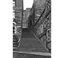 Drawing of Edinburgh street in pen & ink Photographic Print