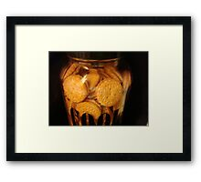 Cookie JAR - Keeping it full   ^ Framed Print