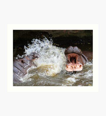 Hungry hippos?? Art Print
