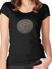 Ancient Roman Coin - Sol Invictus Women's Fitted Scoop T-Shirt