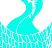 Japanese Bird Crest Sticker