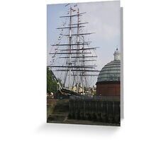 Cutty Sark (before the fire), Greenwich Greeting Card