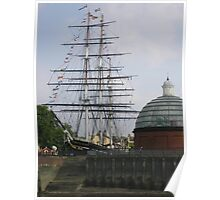 Cutty Sark (before the fire), Greenwich Poster